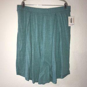 Heathered Teal Blue Madison Skirt BNWT LuLaRoe 3X